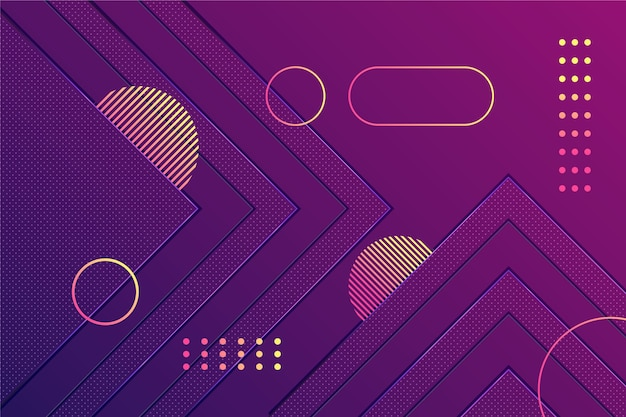 Gradiente de formas púrpuras sobre fondo oscuro