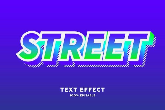 Gradiente fresco moderno con efecto de texto de striplines