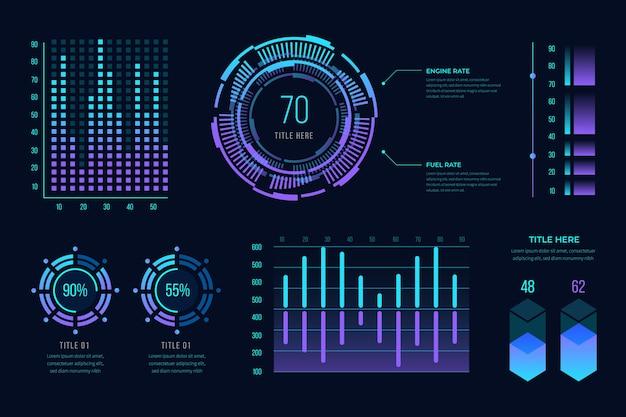 Gradiente futurista infografía