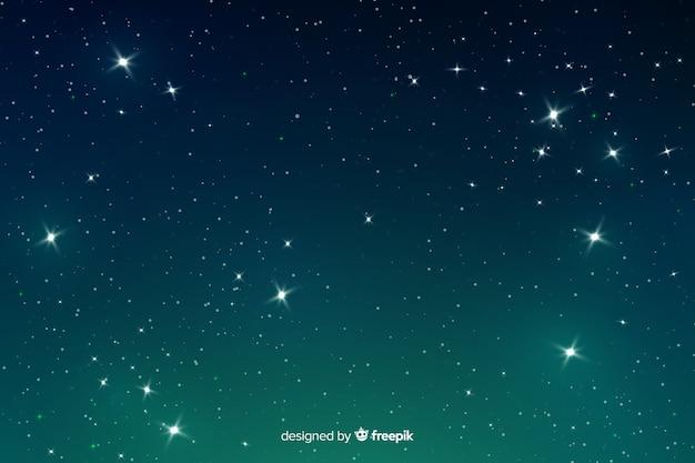 Gradiente gradiente de fondo de noche estrellada