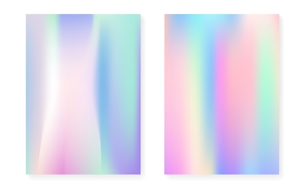 Gradiente holográfico con cubierta de holograma.