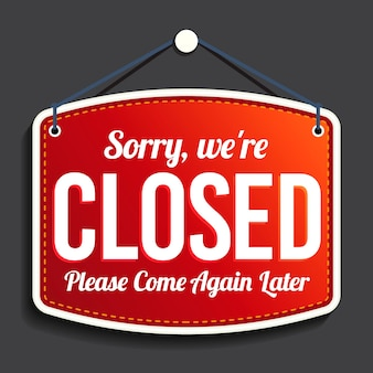 Gradiente de letrero de 'lo siento, estamos cerrados'