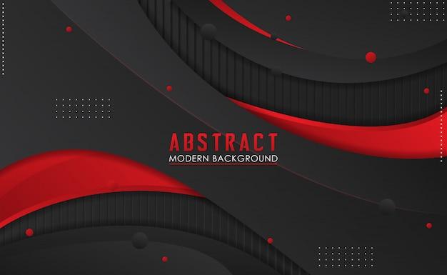 Gradiente moderno abstracto negro y rojo