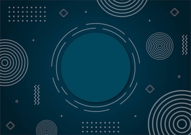 Gradiente moderno azul forma geométrica abstracta.