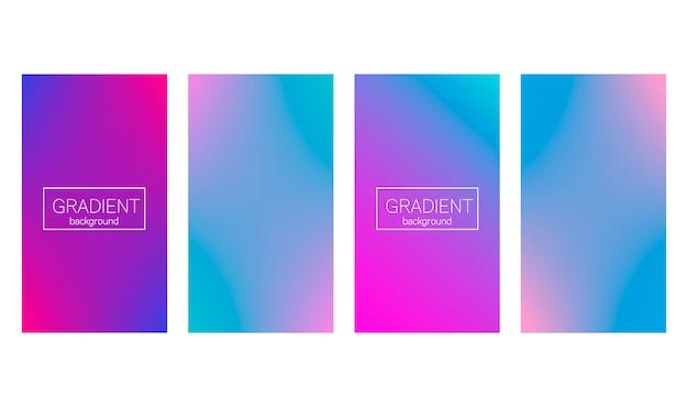 Gradiente moderno conjunto cubierta abstracta