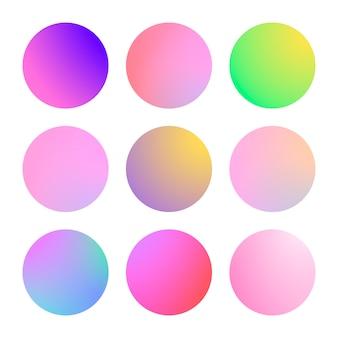 Gradiente moderno establece color abstracto