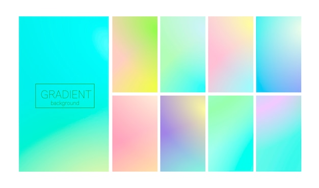 Gradiente moderno establece fondo abstracto