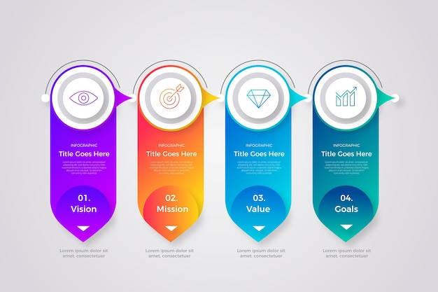 Gradiente de nuestra infografía de misión