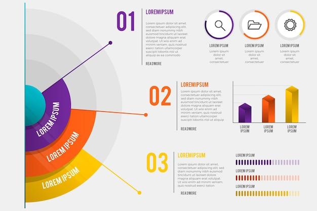 Gradiente radial infografía