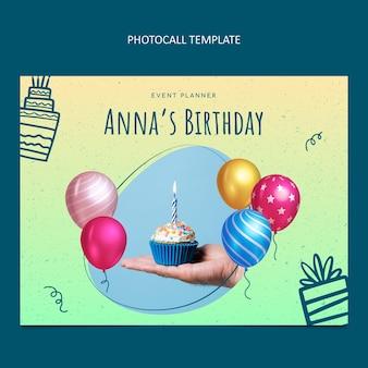 Gradiente textura cumpleaños photocall