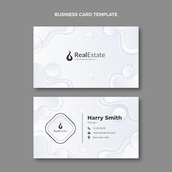 Gradiente textura tarjeta de visita inmobiliaria horizontal