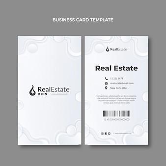 Gradiente textura tarjeta de visita inmobiliaria vertical
