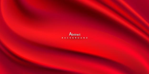 Gradientes abstractos, fondo de ondas rojas de tela.