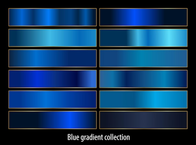 Gradientes azules abstractos set colección