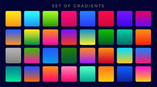 Gradientes coloridos brillantes fondo gran conjunto