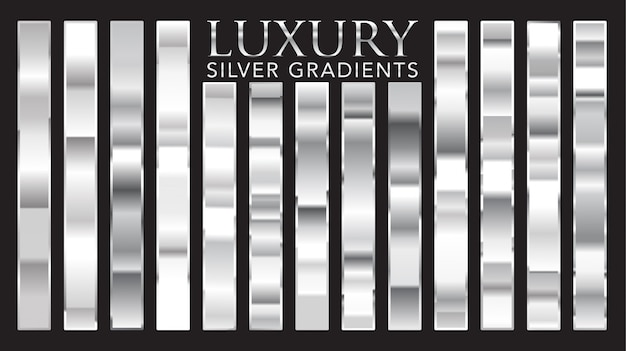 Gradientes de plata de lujo