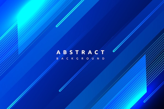 Gradint colorido abstracto azul con fondo de forma simple