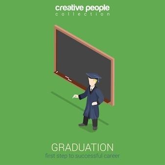 Graduación de aprendizaje plano web 3d