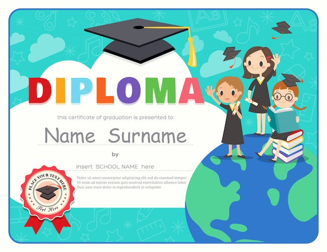 Graduación de niños de escuela primaria