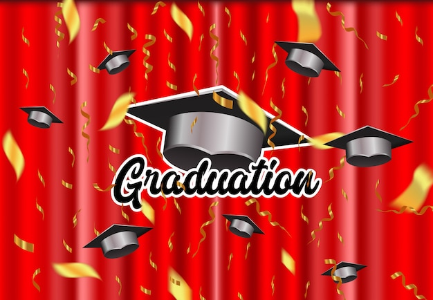 Graduación elegante de fondo