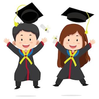 Graduación de personajes de niños lindos