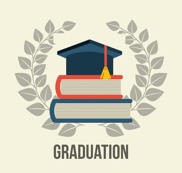 Graduación sobre fondo blanco