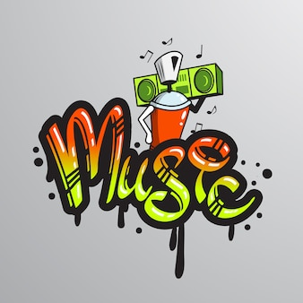 Graffiti palabra carácter imprimir