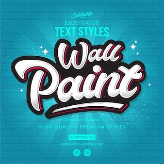 Graffiti text style