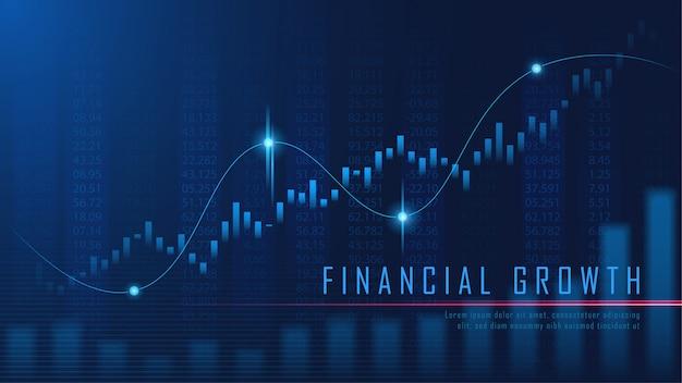 Gráfica financiera en concepto futurista