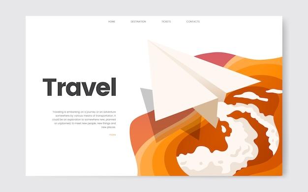 Gráfica del sitio web informativo de viajes y ocio