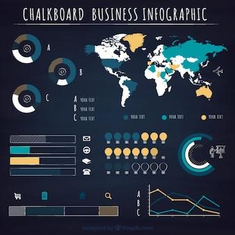 Gráficas infografía negocio