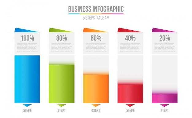 Gráfico de barras de columnas, tabla de comparación infografía.