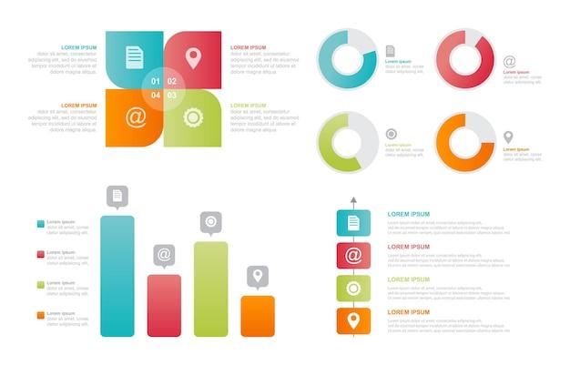 Gráfico de barras diagrama gráfico conjunto de elementos de infografía empresarial estadística