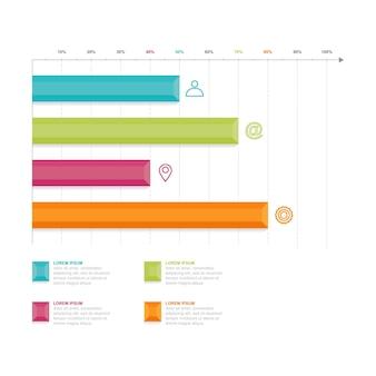 Gráfico de barras diagrama de gráfico elemento de infografía empresarial estadística