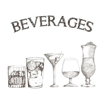 Gráfico de bebidas boceto