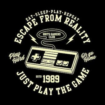 Gráfico de camiseta de jugador retro de 8 bits