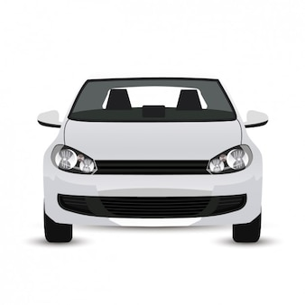 Gráfico de coche moderno blanco