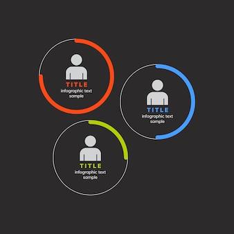 Gráfico corporativo de gestión de rendimiento del vector.