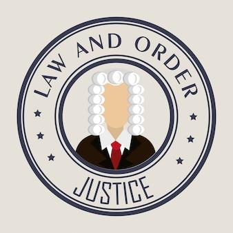 Gráfico de derecho y justicia legal