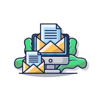 Gráfico del ejemplo del icono del email del negocio.
