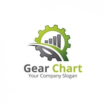 Gráfico del engranaje del logotipo