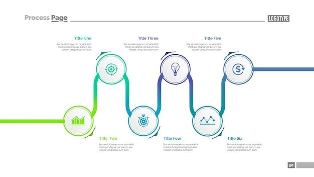 Gráfico con esferas de colores plantilla de diapositivas