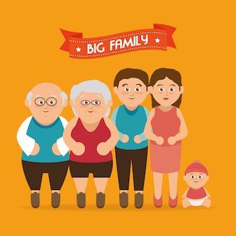Gráfico de familia unida