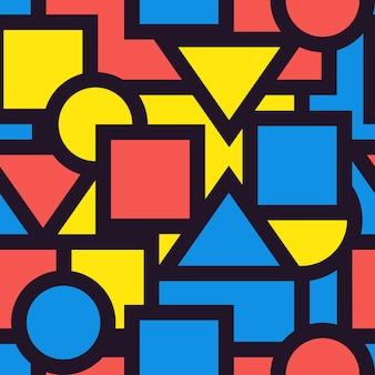 Gráfico geométrico de patrón de fondo transparente. ilustrar.