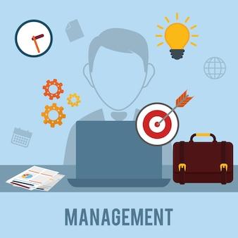 Gráfico de gestión empresarial