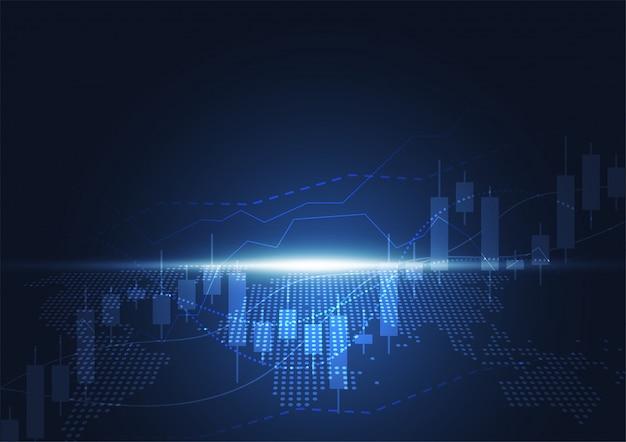 Gráfico de gráfico de palo de vela empresarial de inversión en bolsa
