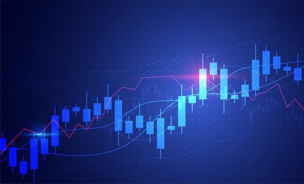 Gráfico de gráfico de velas de negocios de inversión en el mercado de valores