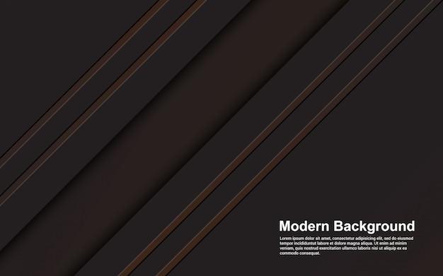 Gráfico de ilustración de fondo abstracto color negro y marrón moderno