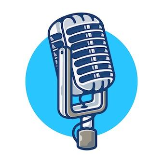 Gráfico de ilustración de micrófono vintage