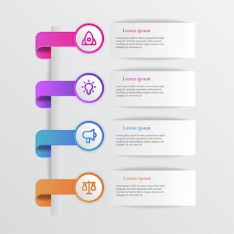 Gráfico de información de belleza moderna con icono de negocios